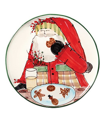 VIETRI Old St.Nick Cookie Platter