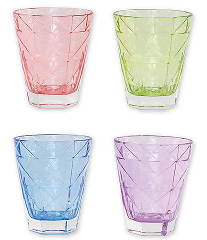 VIETRI Prism Assorted Short Tumblers Set of 4