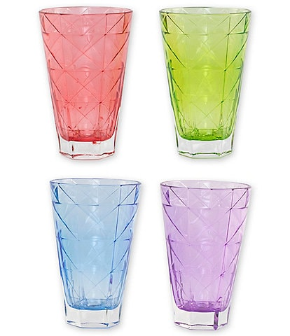 VIETRI Prism Assorted Tall Tumblers, Set of 4