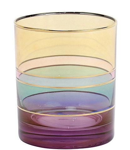 VIETRI Regalia Deco Double Old Fashioned Glass