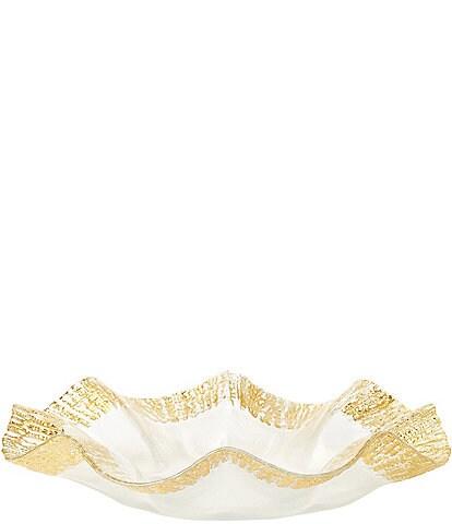 Vietri Rufolo Glass Gold Platter