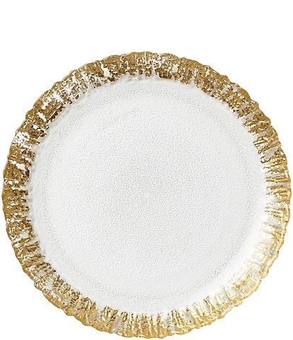VIETRI Rufolo Glass Gold Salad Plate