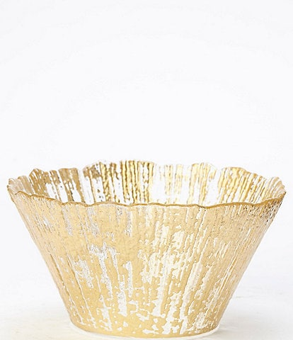 VIETRI Rufolo Glass Gold Small Deep Bowl