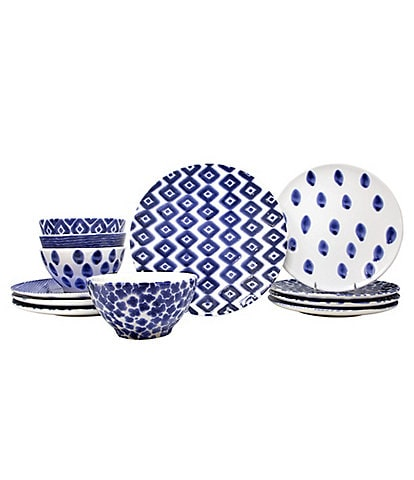 VIETRI Santorini Assorted 12-Piece Place Setting