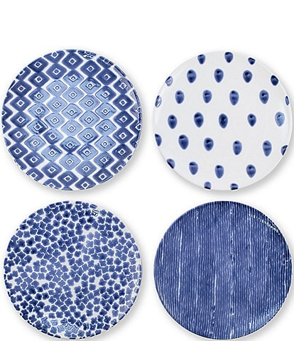Vietri Santorini Assorted Dinner Plates Set of 4