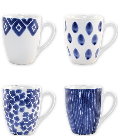 VIETRI Santorini Assorted Mugs Set of 4