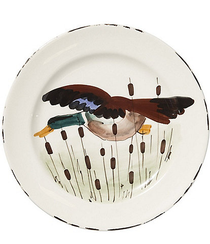 VIETRI Festive Fall Collection Wildlife Mallard Dinner Plate