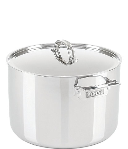 Viking 3-Ply Stainless Steel Stock Pot With Lid, 12-Quart