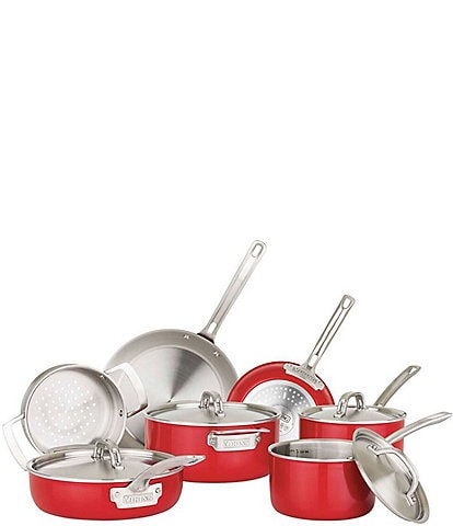 Viking 2-Ply 11-Piece Cookware Set with Stainless Steel Lids