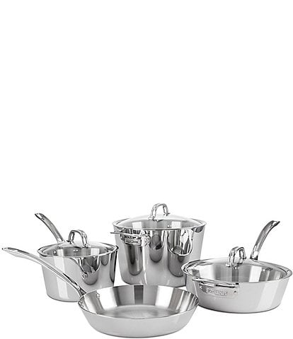 Viking Contemporary 3-Ply Stainless Steel 7-Piece Cookware Set