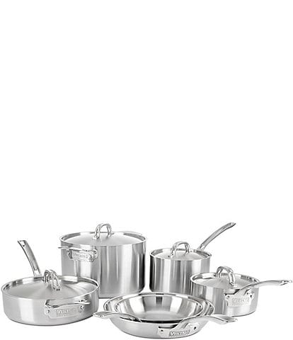 Viking Professional 5-Ply Satin Finish Stainless Steel, 10 Piece Cookware Set