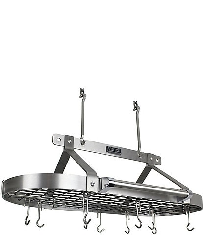 Viking Professional Deluxe Stainless Steel 36#double; Pot Rack with Chain