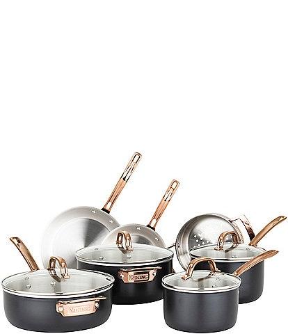 Viking Viking 3-Ply Black 11-Piece Stainless Cookware Set