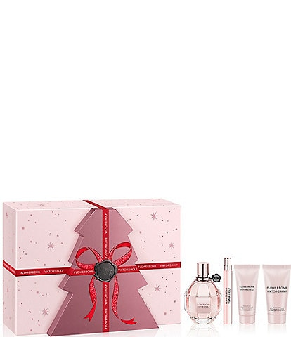 Viktor & Rolf Flowerbomb 4 Piece Perfume and Body Care Gift Set