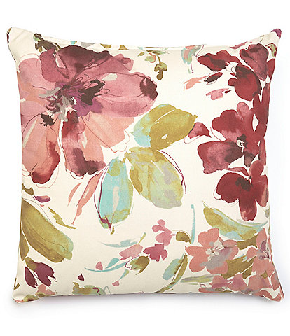Villa by Noble Excellence Paint Palette Floral Square Pillow
