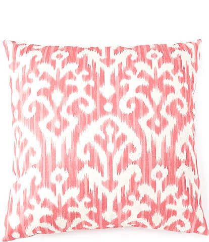 Villa by Noble Excellence Tonal Ikat Coral Filled Euro Sham
