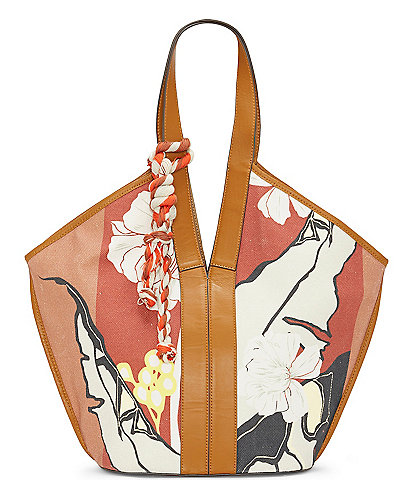 Vince Camuto Afina Canvas Printed Tote Bag