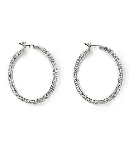 Vince Camuto All Around Pave Hoop Earrings