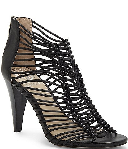 Vince Camuto Alsandra Caged Leather Dress Sandals