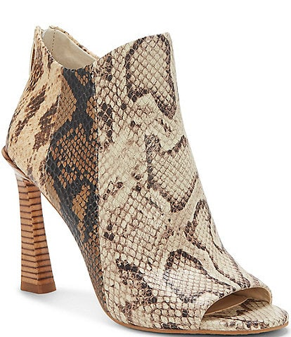Vince Camuto Aritziana Snake Print Leather Shooties