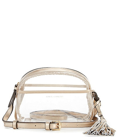 Vince Camuto Aryna Clear Mini Tassel Crossbody Bag