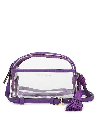Vince Camuto Aryna Clear Mini Tassel Crossbody
