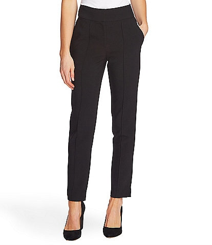 Vince Camuto Bi-Stretch Crepe Pintuck Straight Ankle Pants