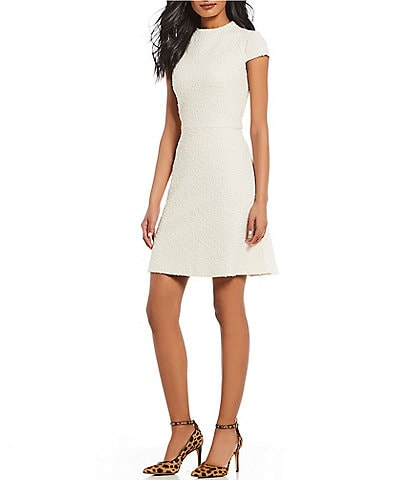 vince camuto boucle a line dress