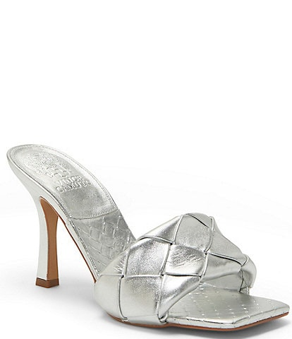 Vince Camuto Brelanie Woven Leather Dress Mules