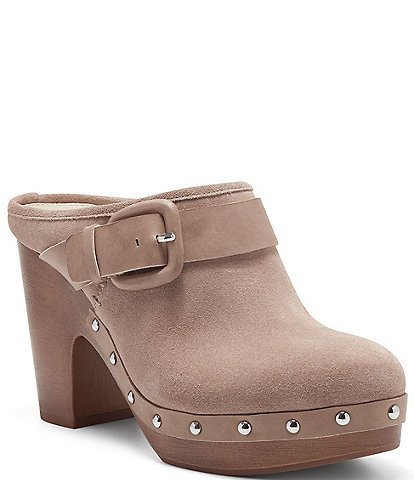 Vince Camuto Ceena Studded Suede Slip-On Mules