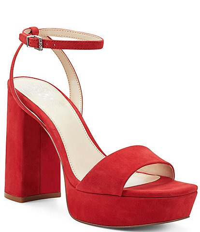 Vince Camuto Chastin Suede Platform Dress Sandals
