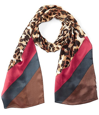 Vince Camuto Classic Leopard Oblong Scarf