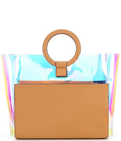Vince Camuto Clea Clear Ring Top Handle Tote