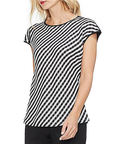 Vince Camuto Clean Simple Striped Blouse