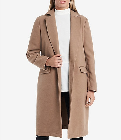 Vince Camuto Contrast Collar Top Coat