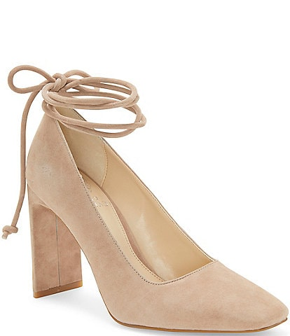 Vince Camuto Damell Suede Ankle Wrap Pumps