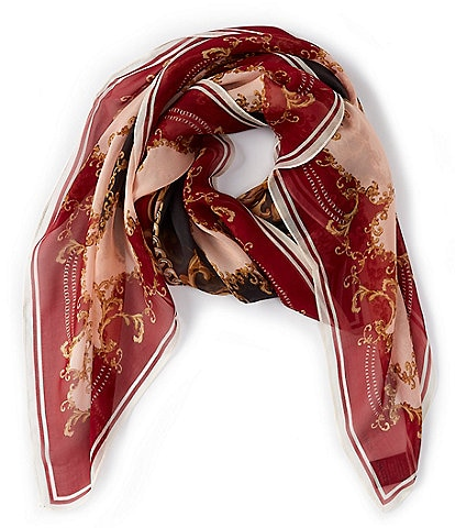 Vince Camuto Decorative Status Silk Square Scarf