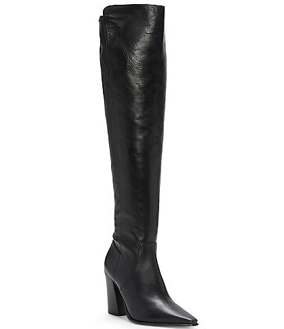 Vince Camuto Demerri Over-The-Knee Leather Pointed Toe Boots