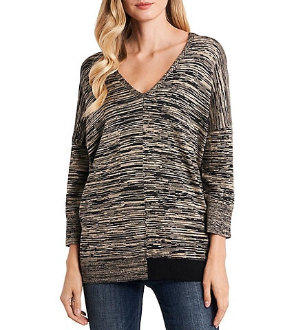 Vince Camuto Dolman Sleeve Space Dye Sweater Tunic