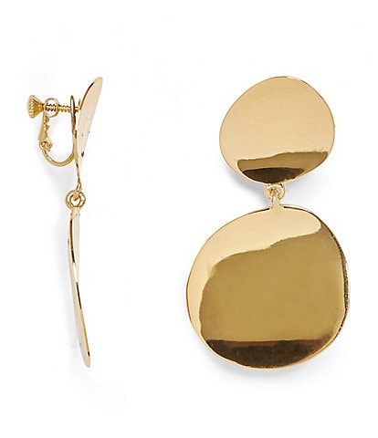Vince Camuto Double Drop Clip-On Earrings