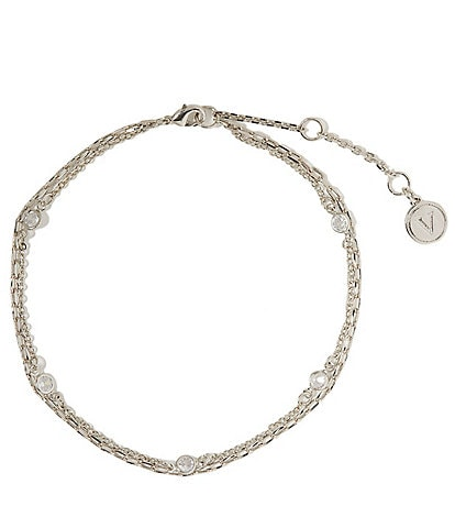 Vince Camuto Double Row Chain Anklet