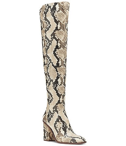 Vince Camuto Dreven Over The Knee Snake Print Boots