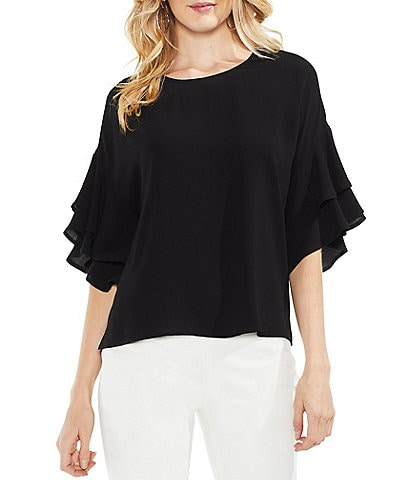 Vince Camuto Drop Shoulder Tiered Sleeve Blouse