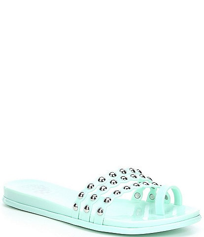 Vince Camuto Edolyn Multi Band Studded Detail Jelly Sandals
