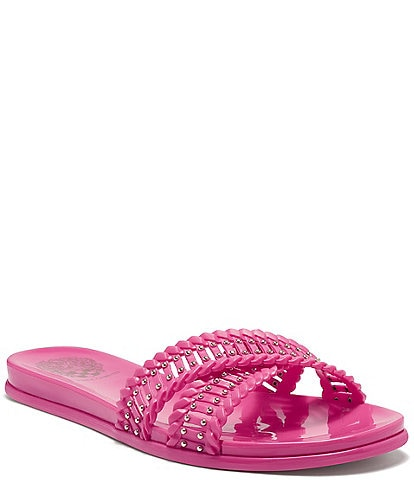 Vince Camuto Erinda X Band Studded Jelly Slides