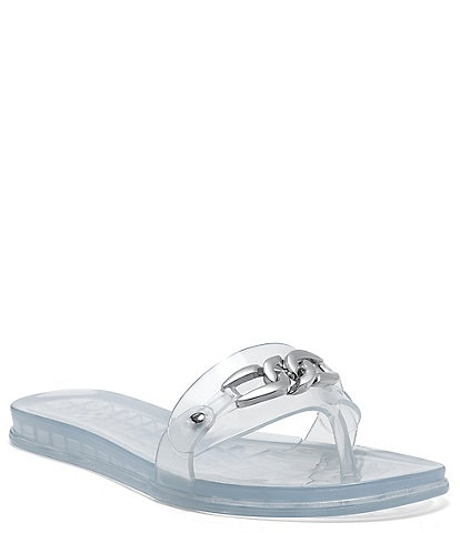 Vince Camuto Evolet Clear Chain Detail Jelly Sandals