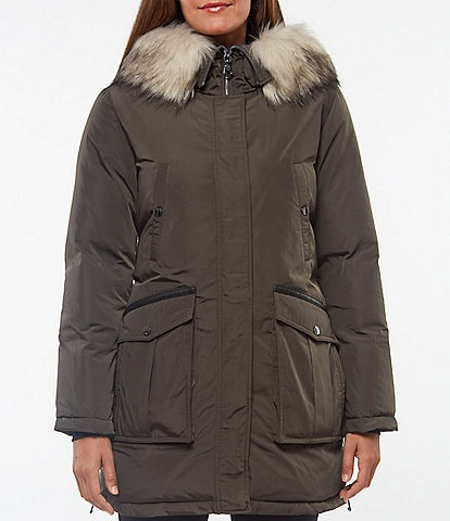 Vince Camuto Faux Fur Hooded Down Parka