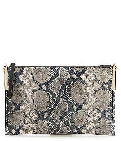 Vince Camuto Fee Zip Top Metallic Cross-Body Bag