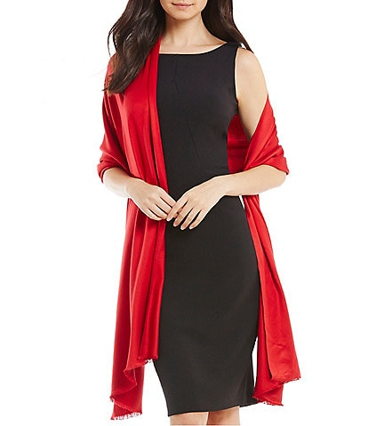 Vince Camuto Frayed Satin Wrap