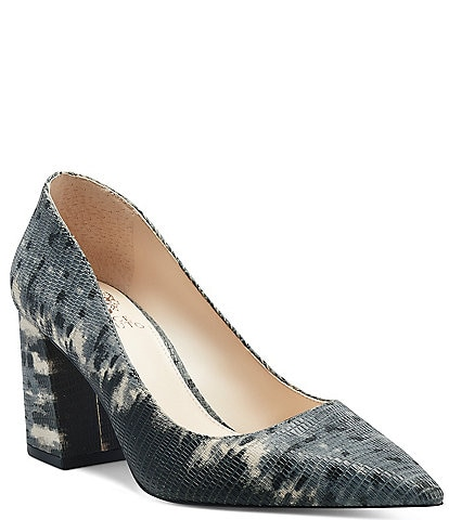 Vince Camuto Frittam Snake Embossed Leather Pumps